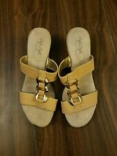 Soft Style A Hush Puppie Company Slide Soft Design Sandal Size 9M Free Shipping!