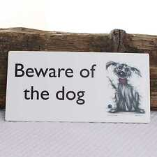 Door Name Plaque Beware of the Dog Gate Fence Sign
