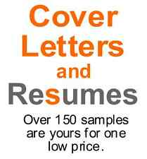 Resume and Cover Letter Resource - Over 150 samples are yours for one low price.
