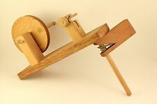 Vintage Loom Weaving Crafting Hand Made Wood Bobbin Thread Spindle Spool Winder