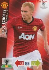 U74 PAUL SCHOLES MANCHESTER UNITED  CARD CHAMPIONS LEAGUE ADRENALYN 2013 PANINI