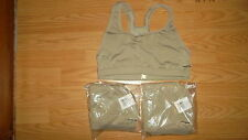 2 NEW Patagonia Capilene Womens Sport Top Sports Bra TAN Brassiere Sz Med BC NWT