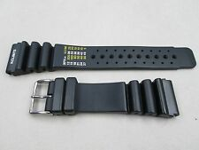 24mm dive watch band strap black rubber with N.D. Limits fits Citizen Aqualand
