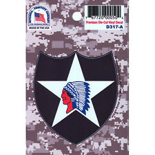 US ARMY 2ND INFANTRY DIVISION PREMIUM DIE-CUT VINYL STICKER/DECAL - MADE IN USA!