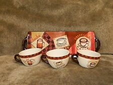 Yankee Candle Tealight Holder Coffee Collection Mocha Latte Cappuccino Cups Tray