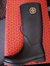 TORY BURCH SARAH NAVY  RAIN BOOT BRAND NEW IN THE BOX SIZE 9
