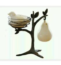 NIB POTTERY BARN PARTRIDGE IN A PEAR TREE SALT & PEPPER SHAKERS Sold Out