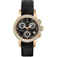 Bulova Accutron Women's 65R150 Masella Diamond Subdials Rose Gold Watch