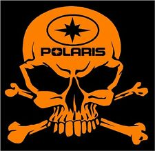 Polaris skull sticker OR decal Switchback RZR Sportsman Ace Rush Snowmobile ATV