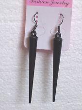 Sexy Black Spike Earrings