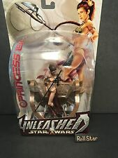 Star Wars Unleashed Slave Leia 2004 White Card MISB