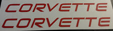 2 Corvette small vinyl decals sticker C5 C6