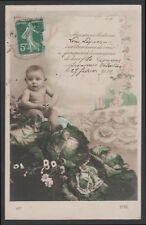 cartolina d'epoca-post card-CHILD ENFANT KIND BAMBINO 68 ANNUNCIO NASCITA