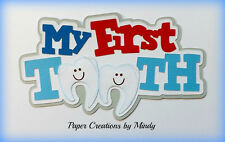 Craftecafe Mindy baby first tooth title premade paper piecing for scrapbook page