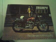 1968 Triumph motorcycle sales brochure(Reprint) All 1968 Model Triumph's $18.00