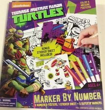 TMNT POSTERS & STICKERS COLOR BY NUMBERS