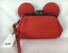NWT Coach x Disney Ltd Edition Mickey Mouse Red Kisslock Wristlet Clutch 65794