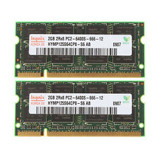 Hynix 4GB 2X 2GB DDR2 PC2-6400S 800MHz 200Pin 2RX8 SODIMM Laptop RAM Memory CL6
