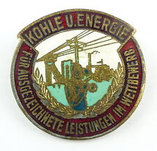 #e5831 Abzeichen / Medaille Kohle & Energie verl. 1953-63 vgl. Band I Nr. 127/08