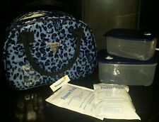 GUESS LOS ANGELES INSULATED LEOPARD PRINT LUNCH TOTE