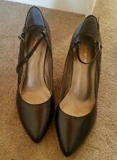 Autograph Ladies black leather ankle straps,  uksize 4/4.5-bnwt
