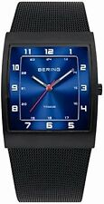 Bering Time Collection Men's Black Titanium Slim Mesh Band Watch 11233-227