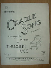 VINTAGE SHEET MUSIC - CRADLE SONG LULLABY - ARRANGED FOR PIANO By MALCOLM IVES