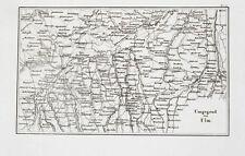 1857 Schwaben Baden-Württemberg Ulm Augsburg Kupferstich-Landkarte