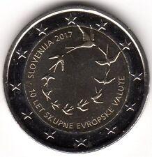 2 Euro-Sondermünze SLOVENIEN 2017 10 Jahre Euroeinführung
