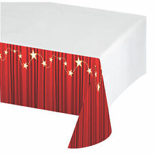 Hollywood Plastic Red Carpet Tablecloth Tablecover Oscars Movie Film PARTY