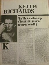Keith Richards, The Rolling Stones, Full Page Vintage Clipping