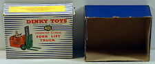 DTE OLD DINKY TOY EMPTY BOX ONLY NO. 401 COVENTRY CLIMAX FORK LIFT TRUCK