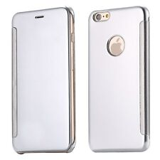 For iPhone 6 6s Plus 5s SE Luxury Clear View Mirror Smart Case Pouch Flip Cover