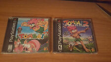 Tomba 1 & 2 - Sony Playstation 1 PS1 - BOTH COMPLETE AND EXCELLENT CONDITION @_@