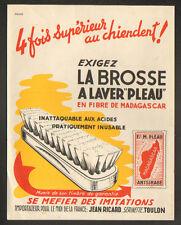 """TOULON / SERINETTE (83) BROSSERIE """"Ets. M. PLEAU / Jean RICHARD"""" Affiche 1950"""