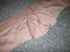 1 Vintage Curtain Valance 76W x 16L Dusty Rose Pink Scalloped Bottom Textured