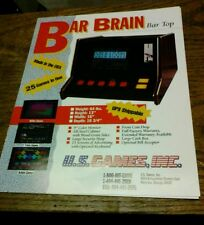 U S.Games BAR BRAIN Arcade Video Game flyer- original