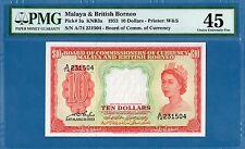 Malaya & British Borneo 10 Dollars, 1959, EF-PMG45, P3a