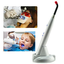 Dental 5W Wireless Cordless LED Curing Light Lamp 1500mw Best Battery Silver