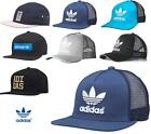 ADIDAS ORIGINALS TRUCKER CAP FLAT BRIM SNAPBACK BASEBALL CAPS HATS MESH ONE SIZE