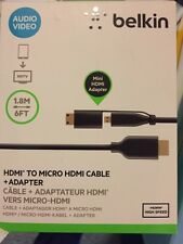 Belkin High speed HDMI to Mini/Micro HDMI Full-HD 1080p Tablet to TV 6 ft cable