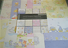 "BABY 12x12""  SCRAPBOOK PAPER 12 SHEETS"