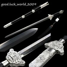 100% Hand Forged Chinese Chairman Sword  Ebony Sheath Pattern Steel Sharp Blade