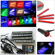 12LED Chips Car SUV Multi-Color Footwell Atmosphere Decoration Lights Waterproof