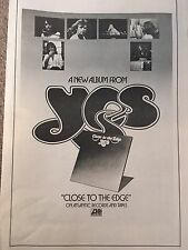 VINTAGE Atlantic Records yes Close To The Edge Album Advertisement Pinup Poster