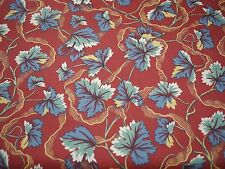 KATZENBACH & WARREN Burgundy Modern Asian Floral Upholstery Curtain Fabric 7 yds