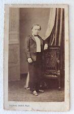 CDV PHOTO PIERRE PETIT à PARIS ENFANT nommé E. JOURDE M927