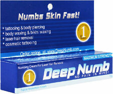 2 x 10g DEEP NUMB Numbing Cream Tattoo Body Piercings Waxing Laser Dr USA SELLER