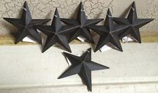 "BLACK BARN STARS 3 3/8"" SET OF 6 PRIMITIVE RUSTIC DECOR COUNTRY ""FREE SHIPPING"""