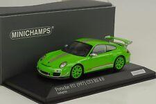 2011 Porsche 911 997 gt3 RS 4.0 amarillo verde 1:43 Minichamps DIECAST 1/100pcs